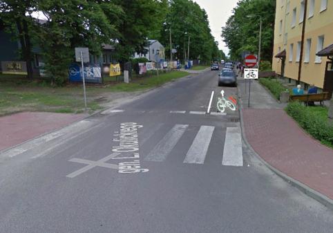 Ryc. 5 Skrzyżowanie ulic gen. Okulickiego i Wyspiańskiego.
