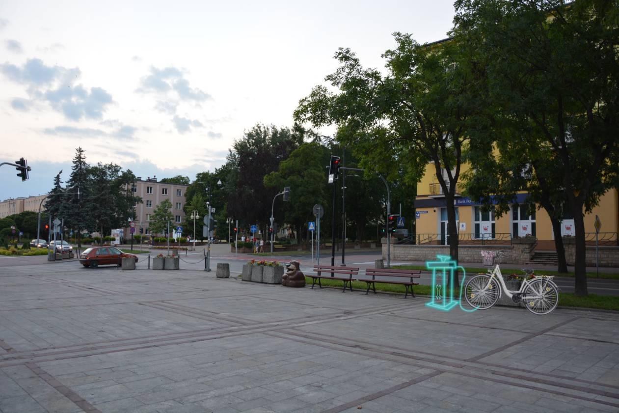 8) stacja napraw rowerów - Plac Konstytucji 3 Maja