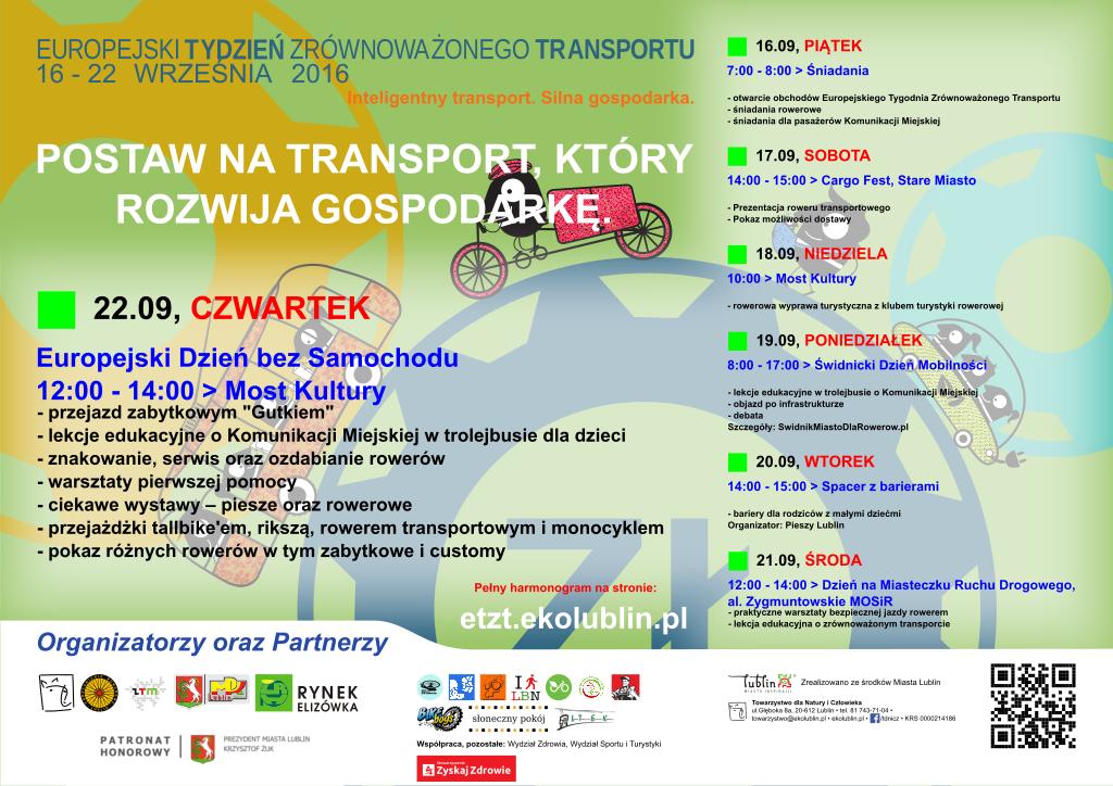 Europejski Tydzień Zrównoważonego Transportu 2016